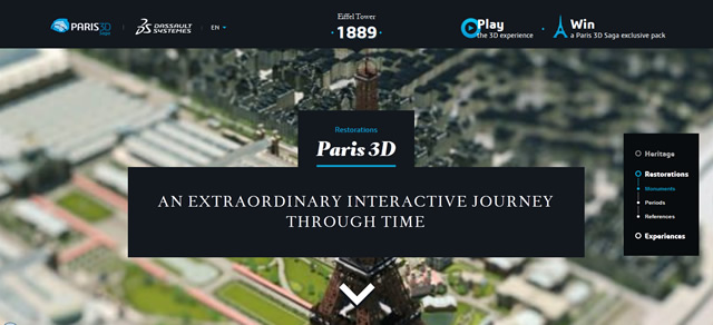 Paris 3D (Parallax Scrolling) screenshot in favorite Designs from 2012