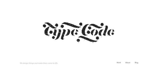 Type/Code screenshot in favorite Designs from 2012