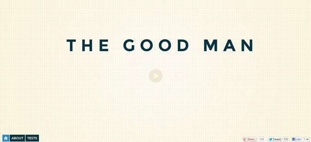 The Good Man screenshot in Best of Web Design 2012
