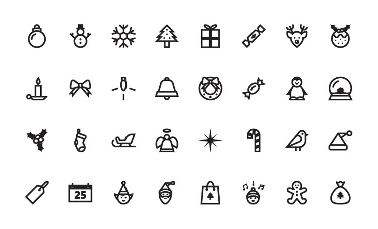 free christmas vector icon set 32 icons eps and ai. Black Bedroom Furniture Sets. Home Design Ideas