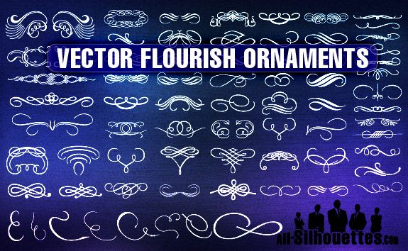 Flourish Ornaments vector resources