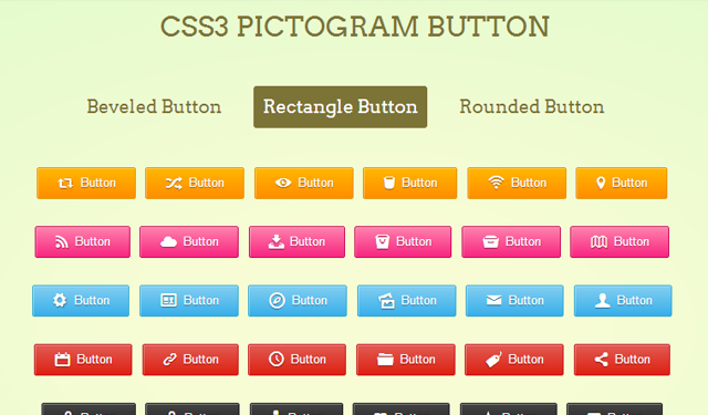 css3 button pictograms buttons freebie open source