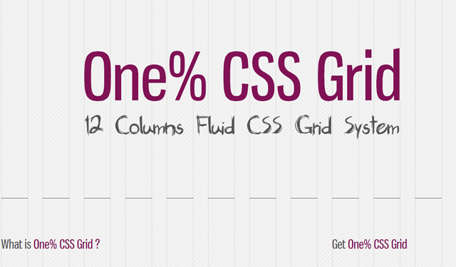 one percent css grids design layout interface