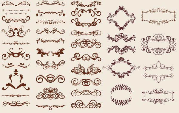 Retro Ornaments vector resources