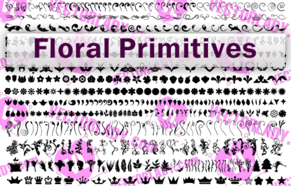 Floral Primitives vector resources