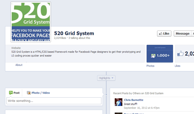 520 facebook grid systems css framework free open source code