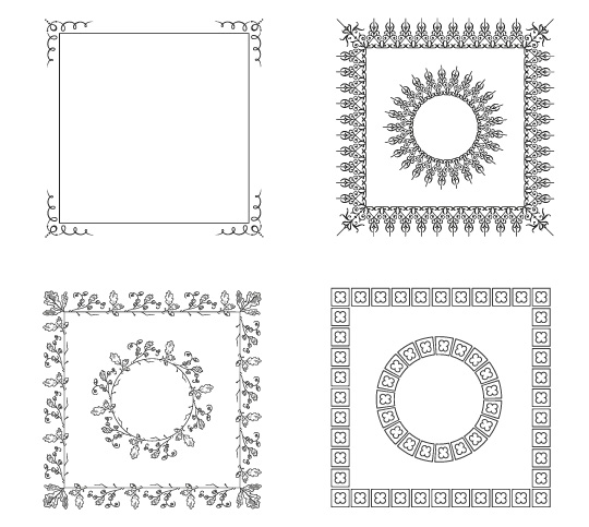 Vector Frame Borders