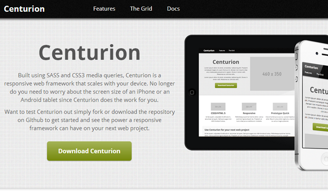 centurion website code design interface open source css codes