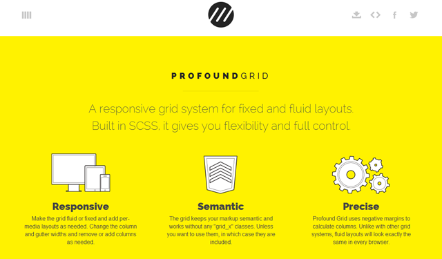 profound grid css framework open source design