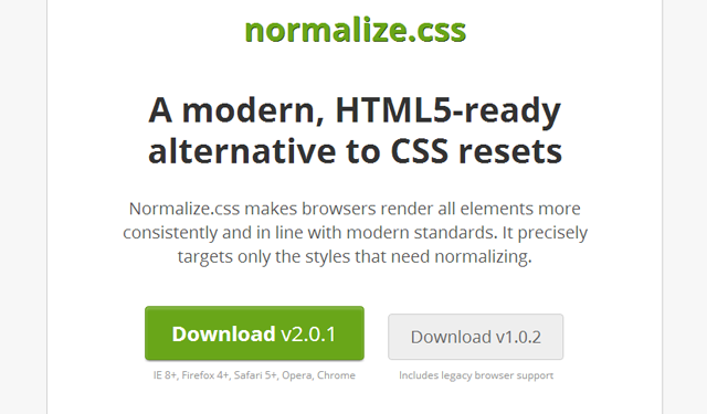 normalize css document free open source codes