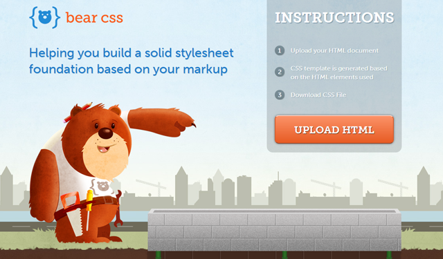 bear css website interface design layout code