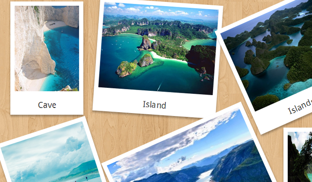 css3 polaroid images website graphics design inspiration