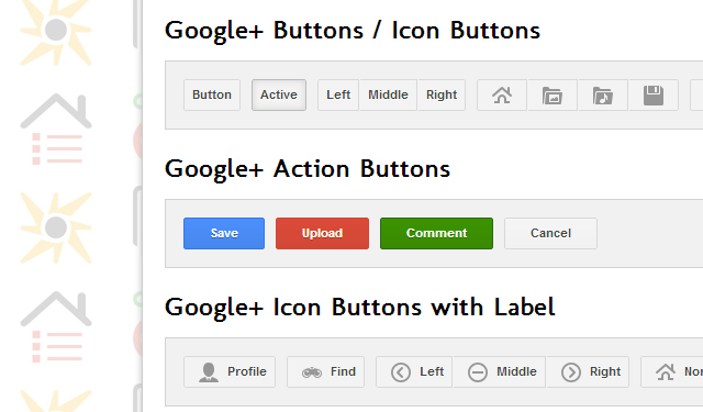 google plus website buttons freebie open source css3 code