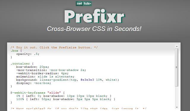 prefix css3 moz opera webkit automatic webapp tool resource