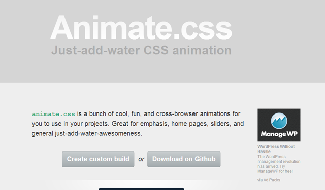 animation css library codes webdev development howto