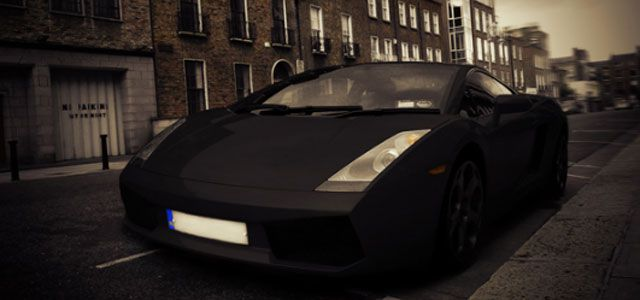 Yellow Lamborghini  Photo Effect Tutorials in Photoshop