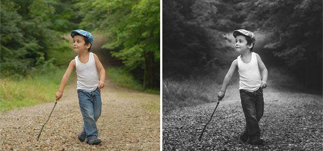 Black White Matte Photo Effect Tutorials in Photoshop