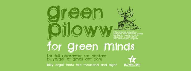 Green Piloww is a Chunky 3d Free Font