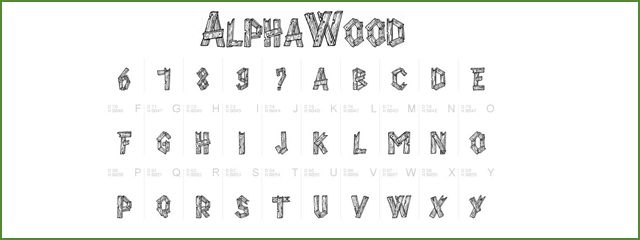 Alpha Wood is a Chunky 3d Free Font