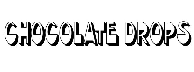 Chocolate Drops Font is a Chunky 3d Free Font