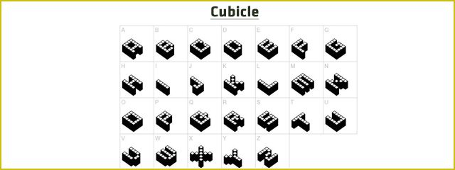 Cubicle Is A Chunky 3d Free Font
