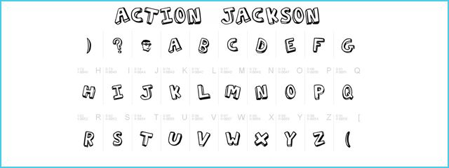 Action Jackson is a Chunky 3d Free Font