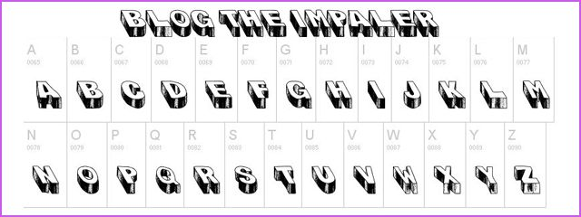 Blog The Impaler Is A Chunky 3d Free Font