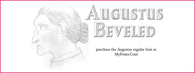 Augustus Beveled is a Chunky 3d Free Font