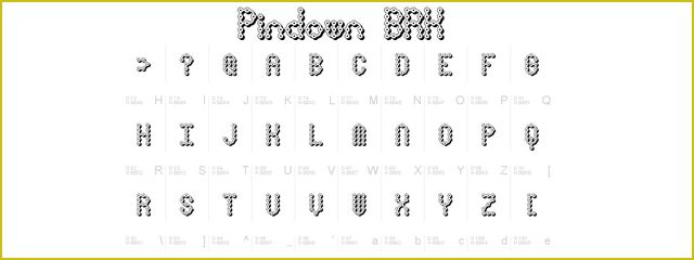 Pin Down X-BRK is a Chunky 3d Free Font