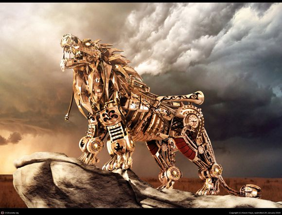 Steampunk Nemean Lion