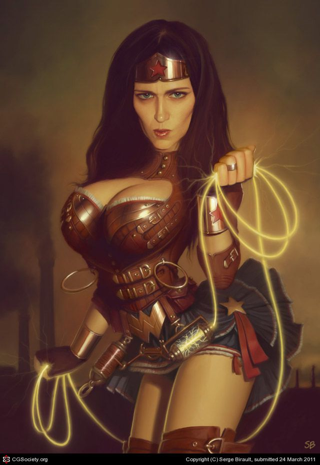 Wonder Woman Steampunk design