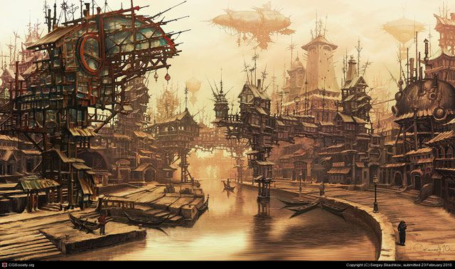 Village Steampunk Artwork