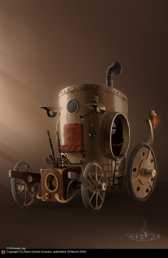 Steampunk carriage Artwork