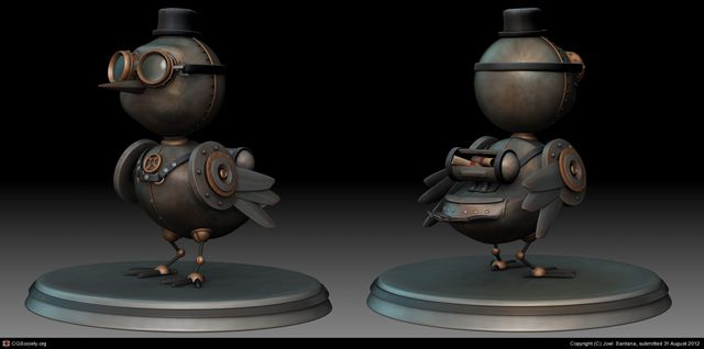 Courier Bird Steampunk design