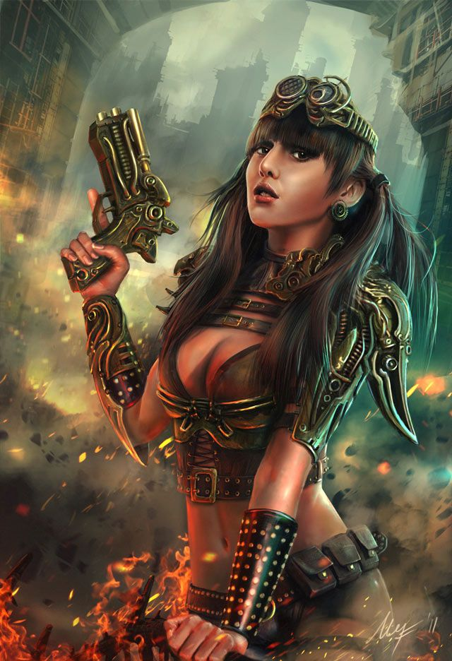 Steampunk Lady Artwork