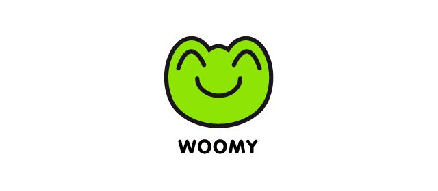 Woomy Logo beautiful symmetrical