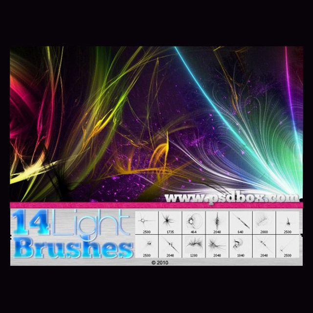 Light Streak Brushes photoshop free