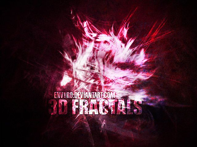 3D Fractals photoshop brushes free
