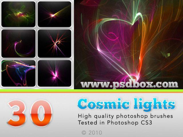 Cosmic lights photoshop brushes free