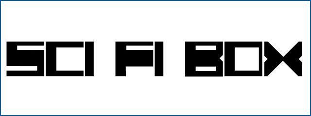 Sci-Fi Box Fonts sci-fi fonts