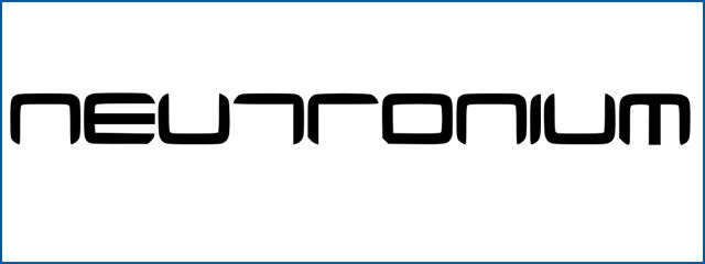 Neutronium Fonts sci-fi fonts download