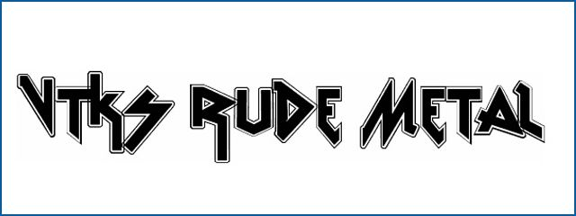 Vtks Rude Metal Fonts free