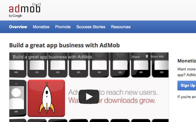 admob smartphone sales marketing internet website design