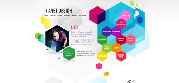 Anet Design example web site original Non-Standard Geometry
