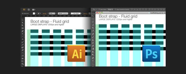 Bootstrap Scaffolding Grid Templates GUI Resources