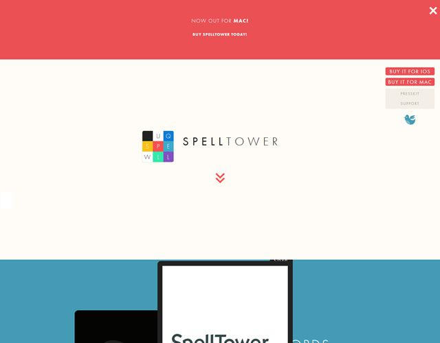 SpellTower as an example of flat web design