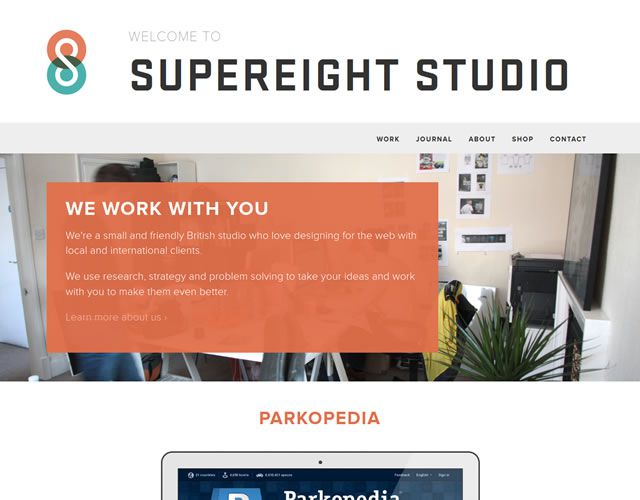 Supereight Studio as an example of as an example of flat design