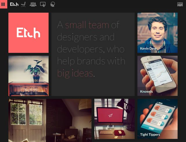 examples web design flat Etch