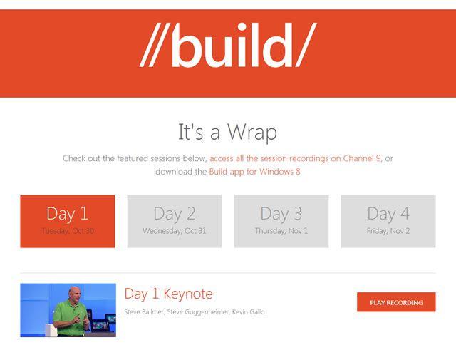 examples web design flat Build 2012