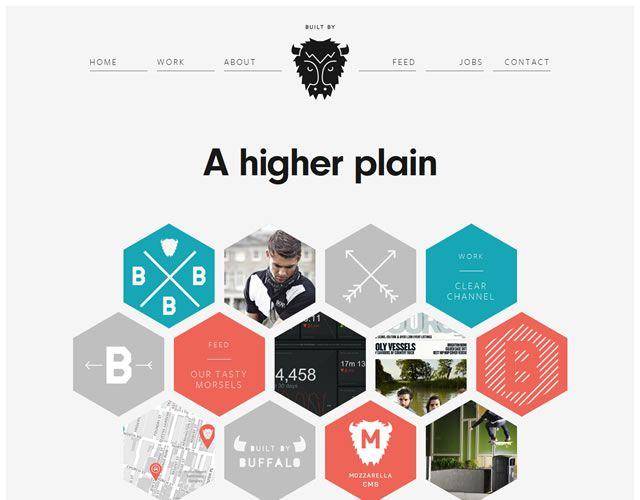 examples web design flat Buffalo